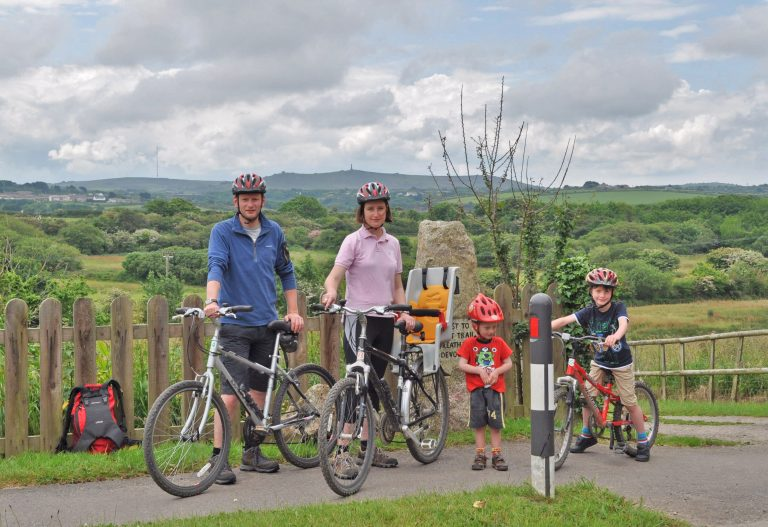Cycling in Cornwall with kids