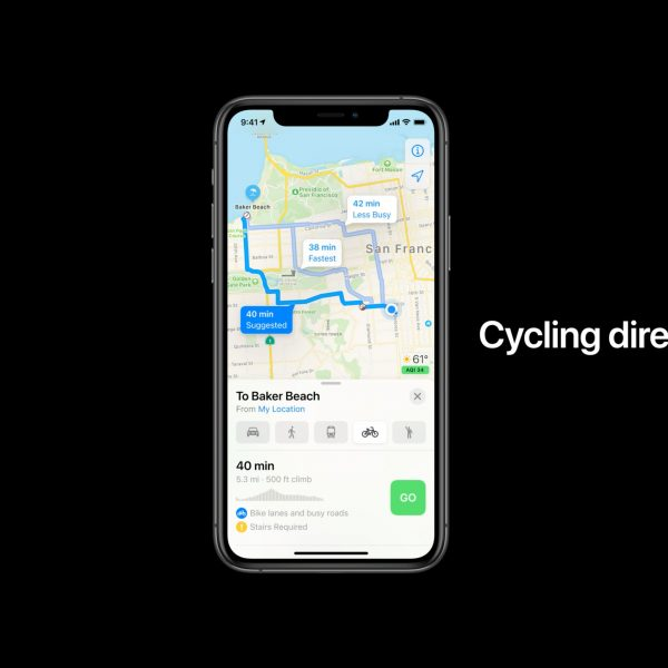 Apple Maps Cycling