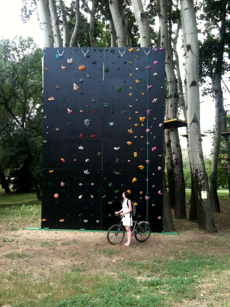 Climbing wall on Ada
