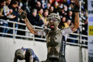 03/10/2021 - Paris-Roubaix - Sonny Colbrelli (BAHRAIN VICTORIOUS) winner © A.S.O./ Pauline Ballet